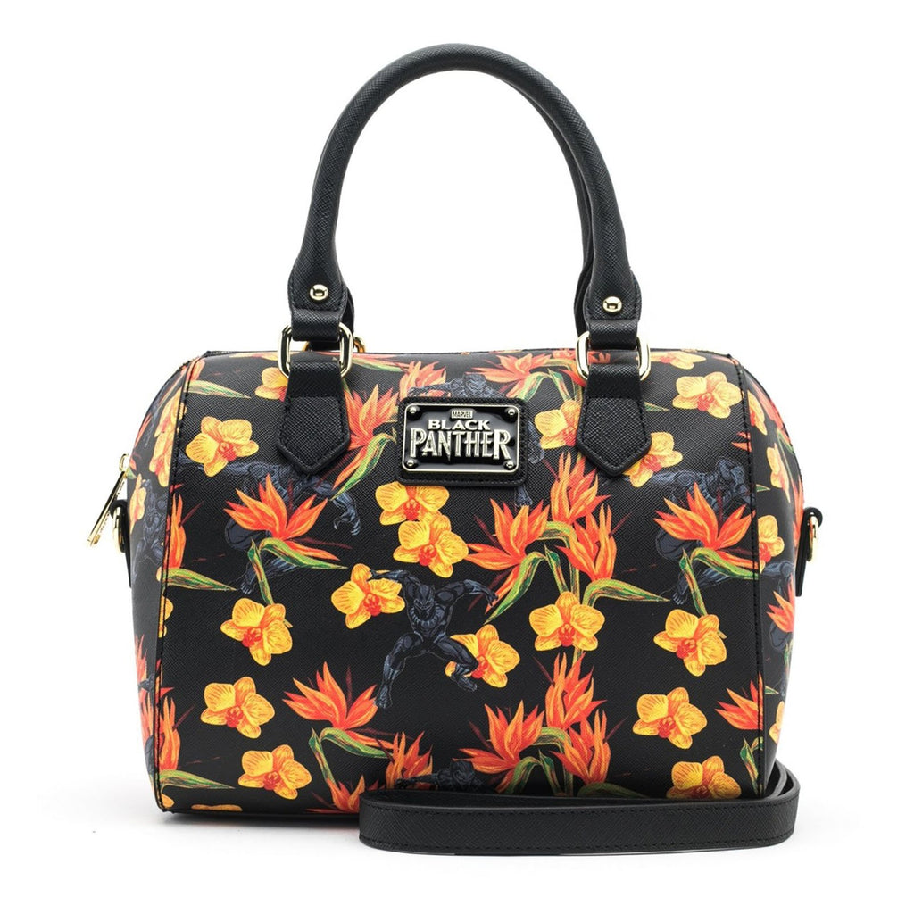 Loungefly Marvel Black Panther Floral Duffle Purse Bag