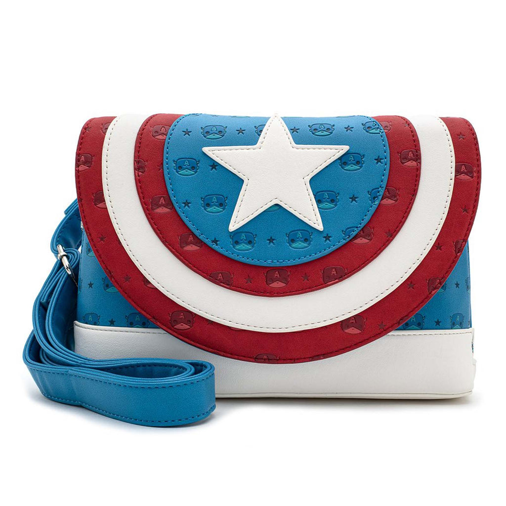 Loungefly Marvel Captain America POP Crossbody Bag Purse