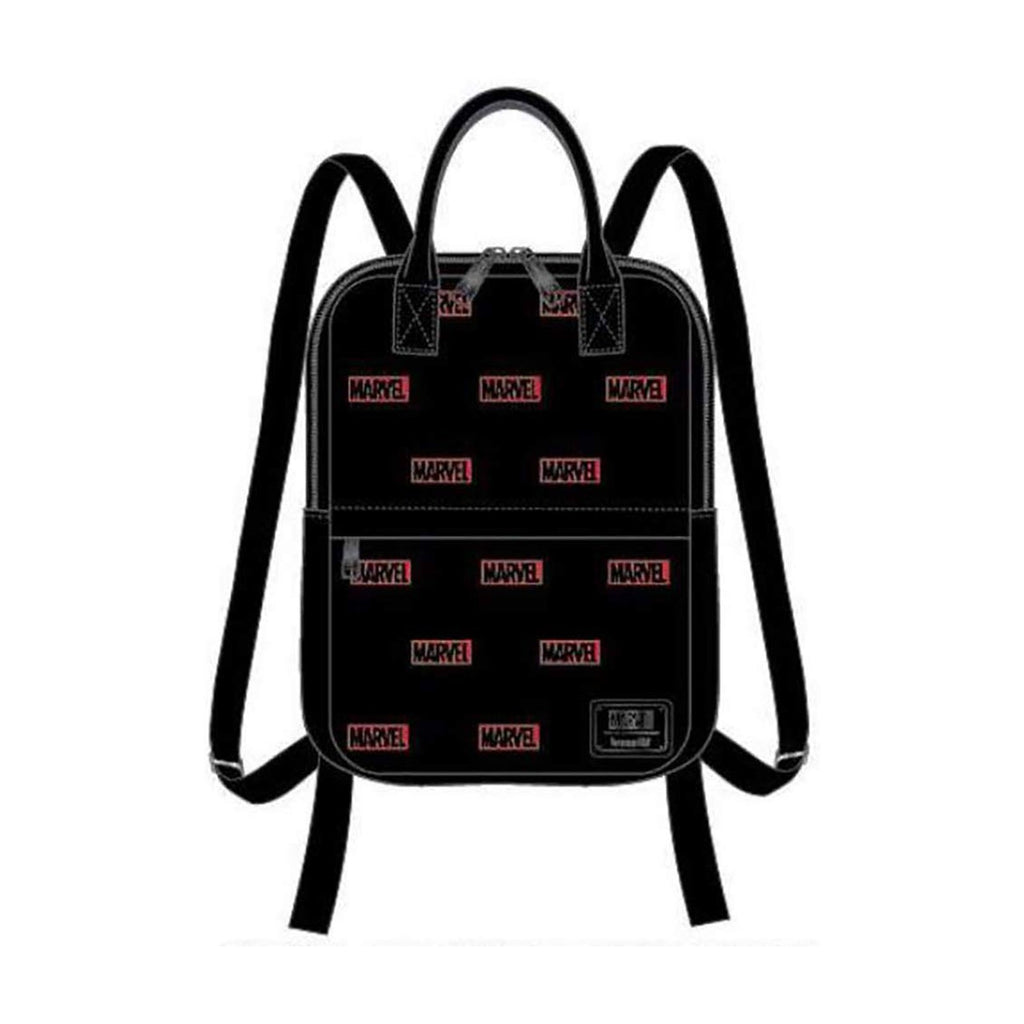 Loungefly Marvel Logo All Over Print Mini Canvas Backpack