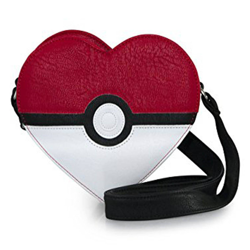 Loungefly Pokemon Pokeball Heart Shaped Cross Body Purse