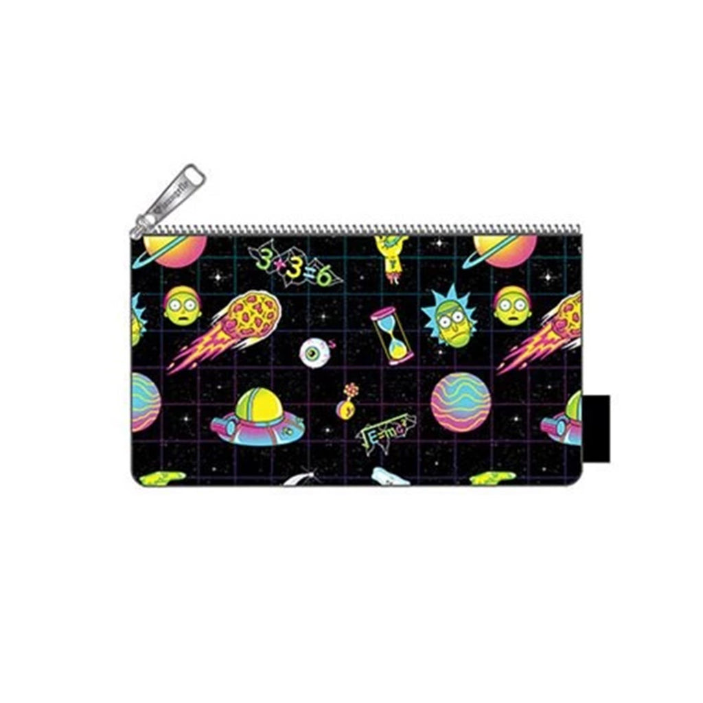Loungefly Rick And Morty Galaxy All Over Print Coin Bag