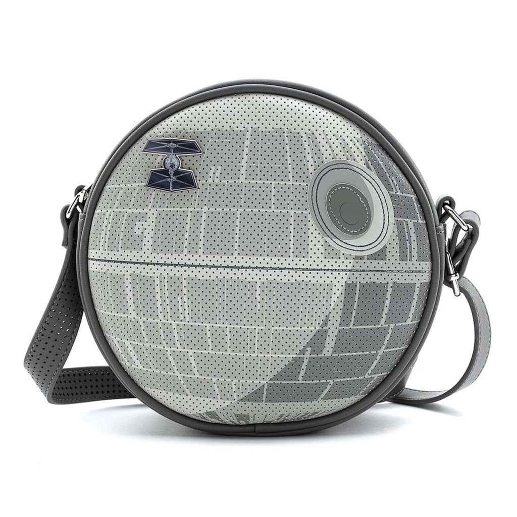 Loungefly Star Wars Death Star Tie Fighter Pin Crossbody Bag Purse