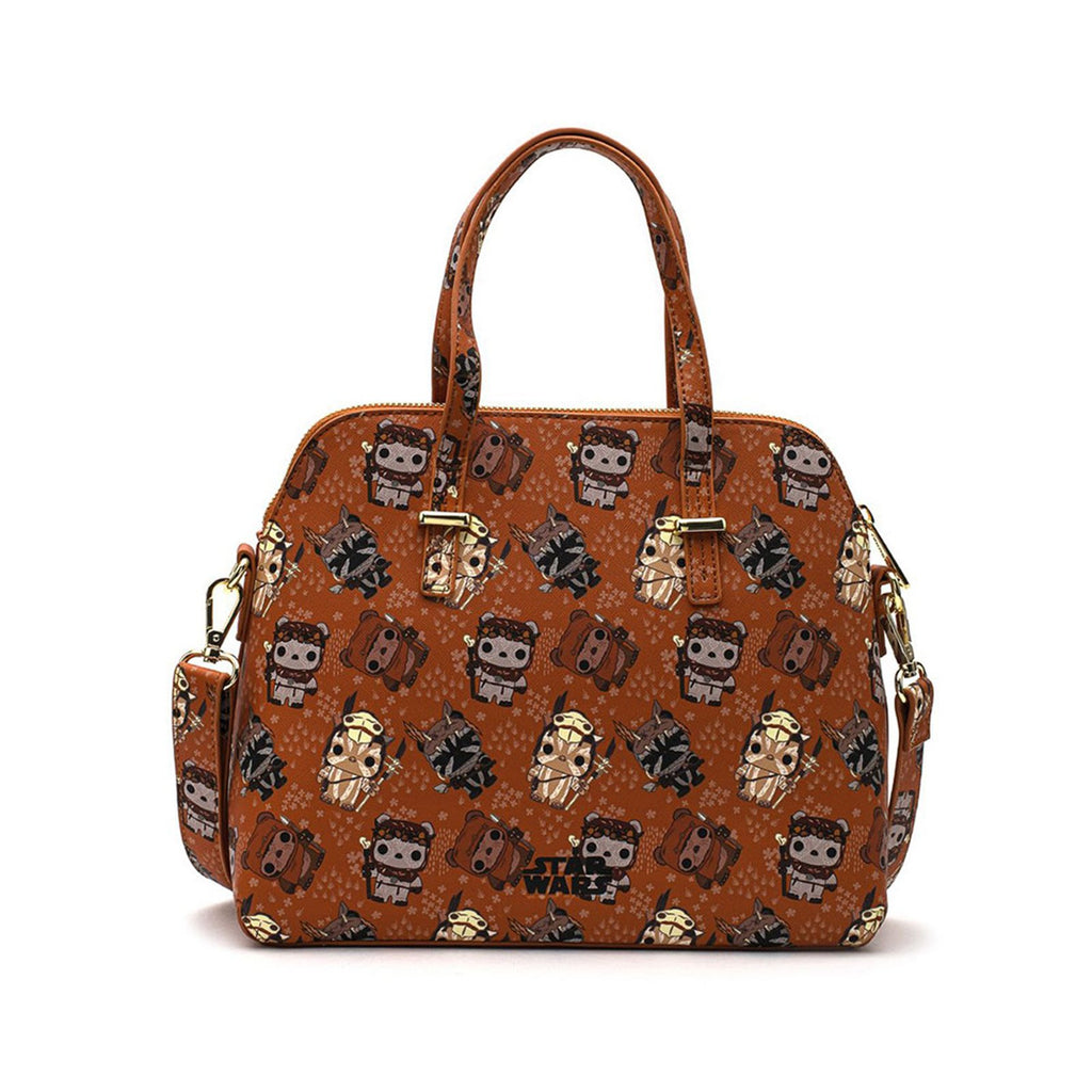 Loungefly Star Wars Ewok All Over Print Crossbody Bag Purse