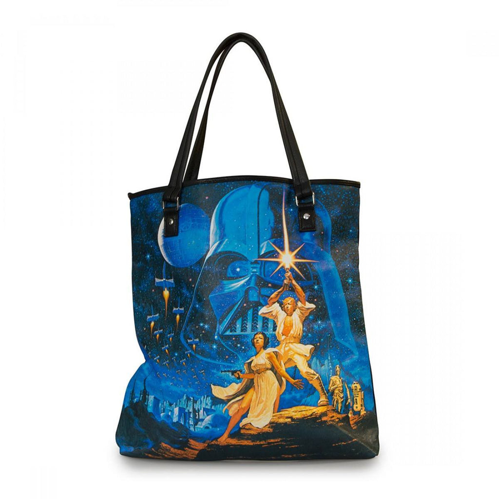 Star Wars Luke And Leia Epic Cover Tote Bag
