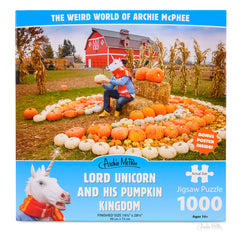 Puzzles - Archie McPhee Lord Unicorn And His Pumpkin Kingdom 1000 Piece Puzzle