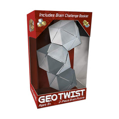 Puzzles - Bepuzzled Geo Twist 2 Piece Brain Puzzle