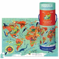 Puzzles - Crocodile Creek Dinosaur World 200 Piece Puzzle Plus Poster