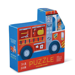 Puzzles - Crocodile Creek Fire Engine Two Sided 24 Piece Puzzle