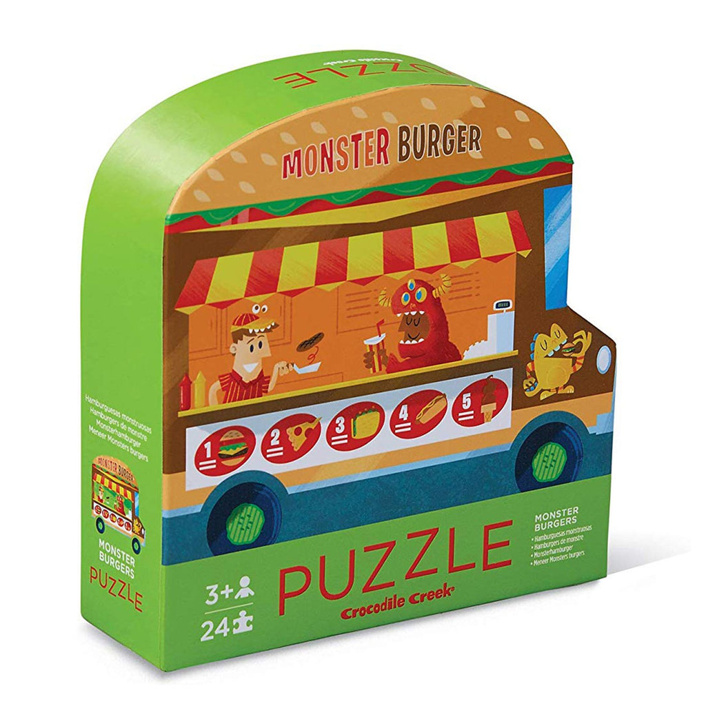 Crocodile Creek Monster Burgers Two Sided 24 Piece Puzzle