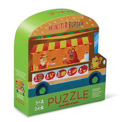 Puzzles - Crocodile Creek Monster Burgers Two Sided 24 Piece Puzzle