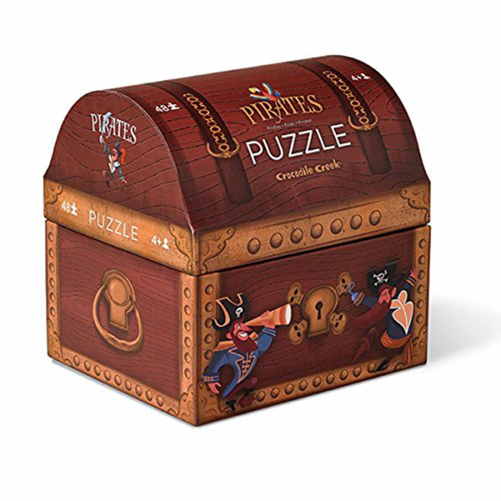Crocodile Creek Pirate's Chest 48 Piece Puzzle