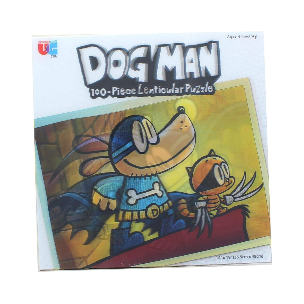 Dog Man Adventures Lenticular 100 Piece Puzzle