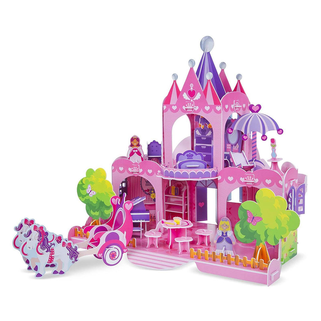 Melissa And Doug 3D Pink Palace Puzzle