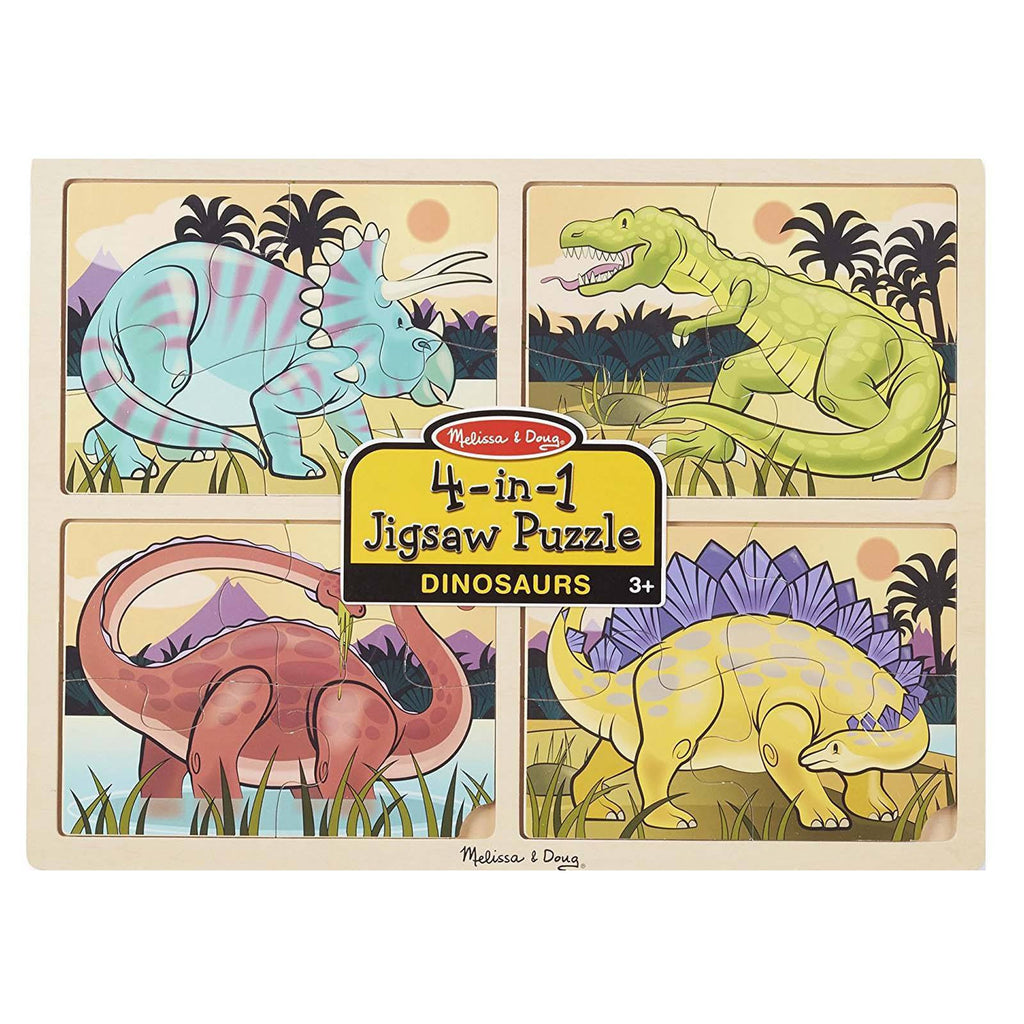 Melissa And Doug 4 In 1 Dinosaurs Jigsaw Puzzle