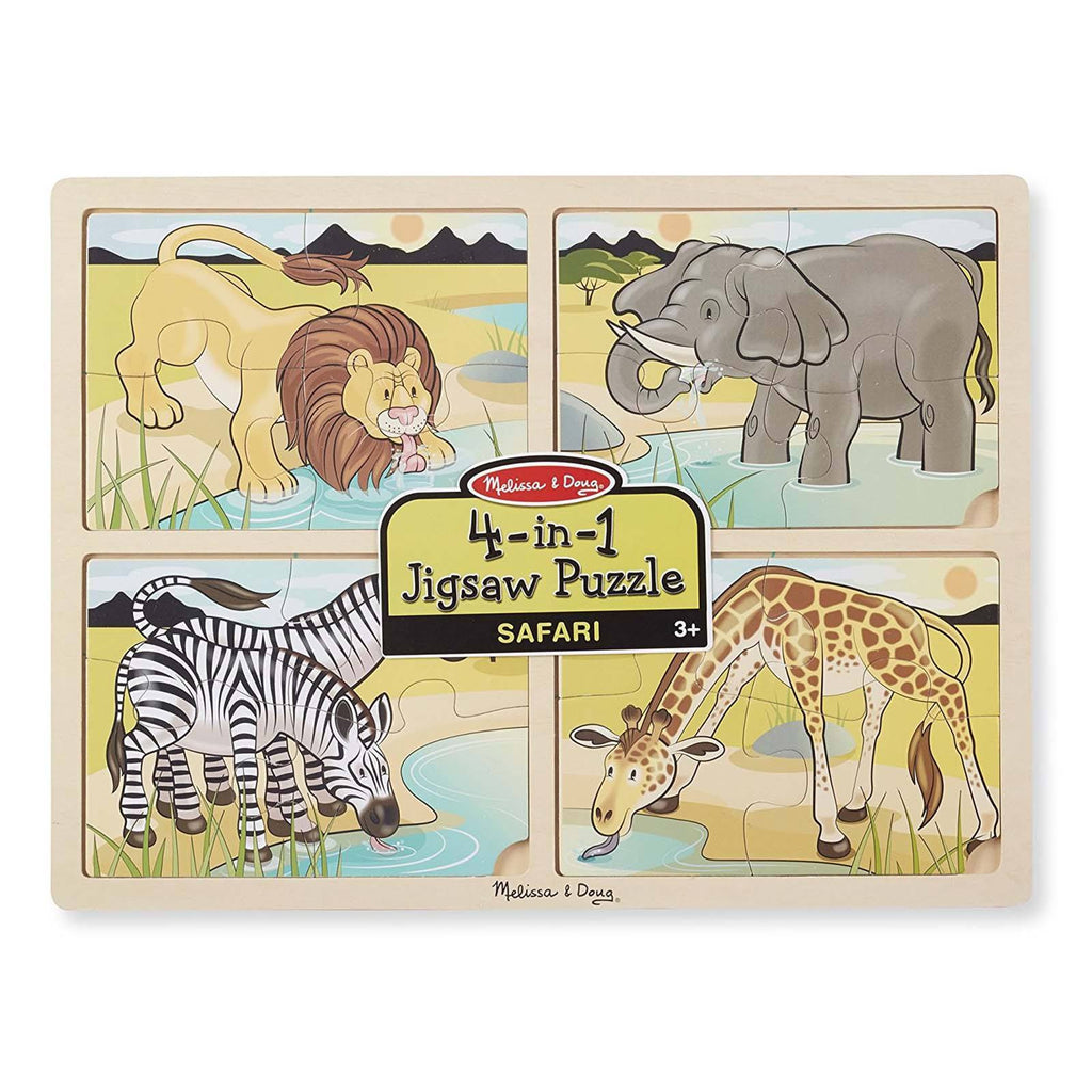 Melissa And Doug 4 In 1 Safari Jigsaw Puzzle