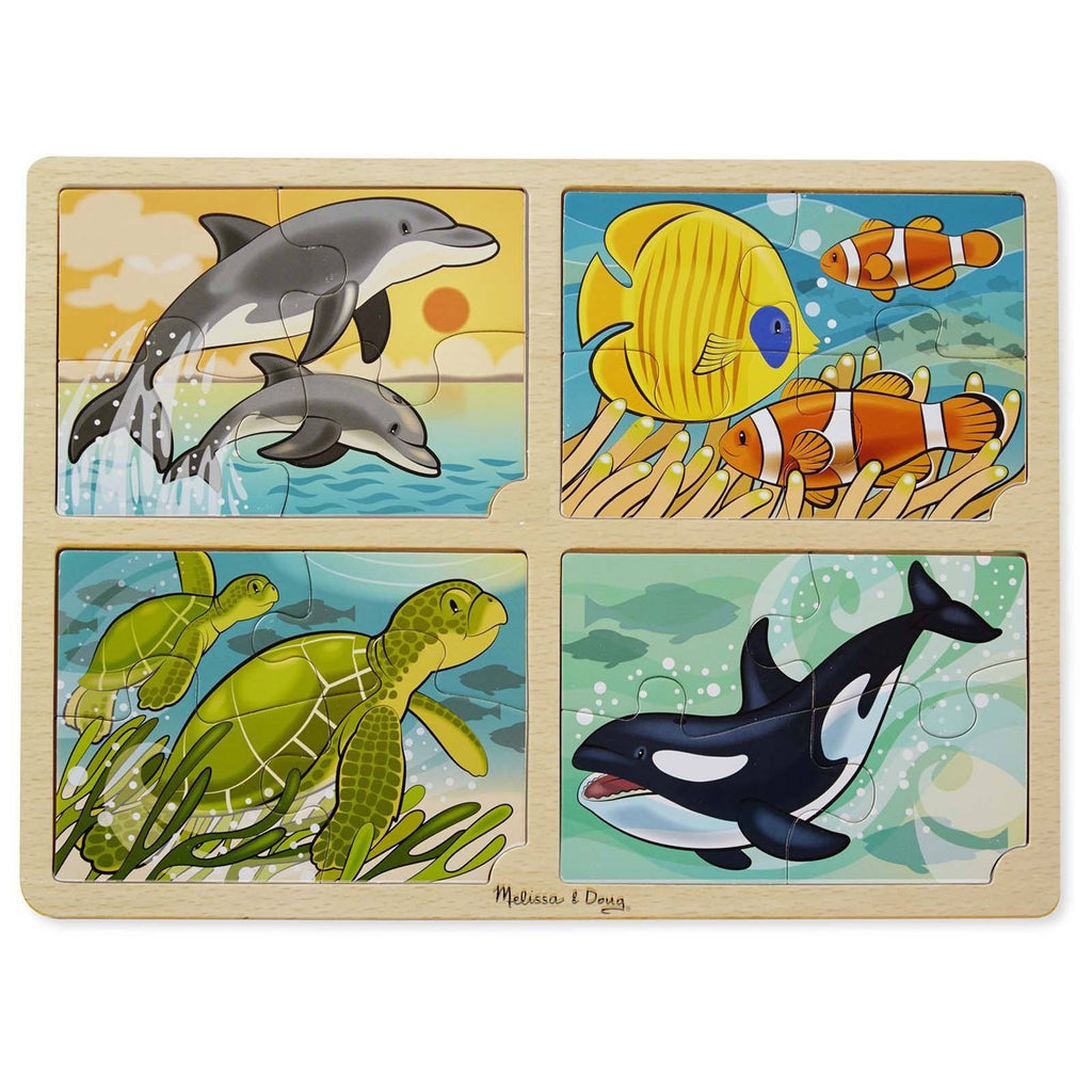 Melissa And Doug 4 In 1 Sea Life Jigsaw Puzzle