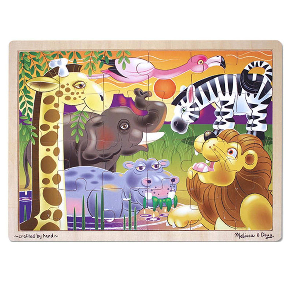 Melissa And Doug African Plains 24 Piece Wooden Jigsaw Puzzle