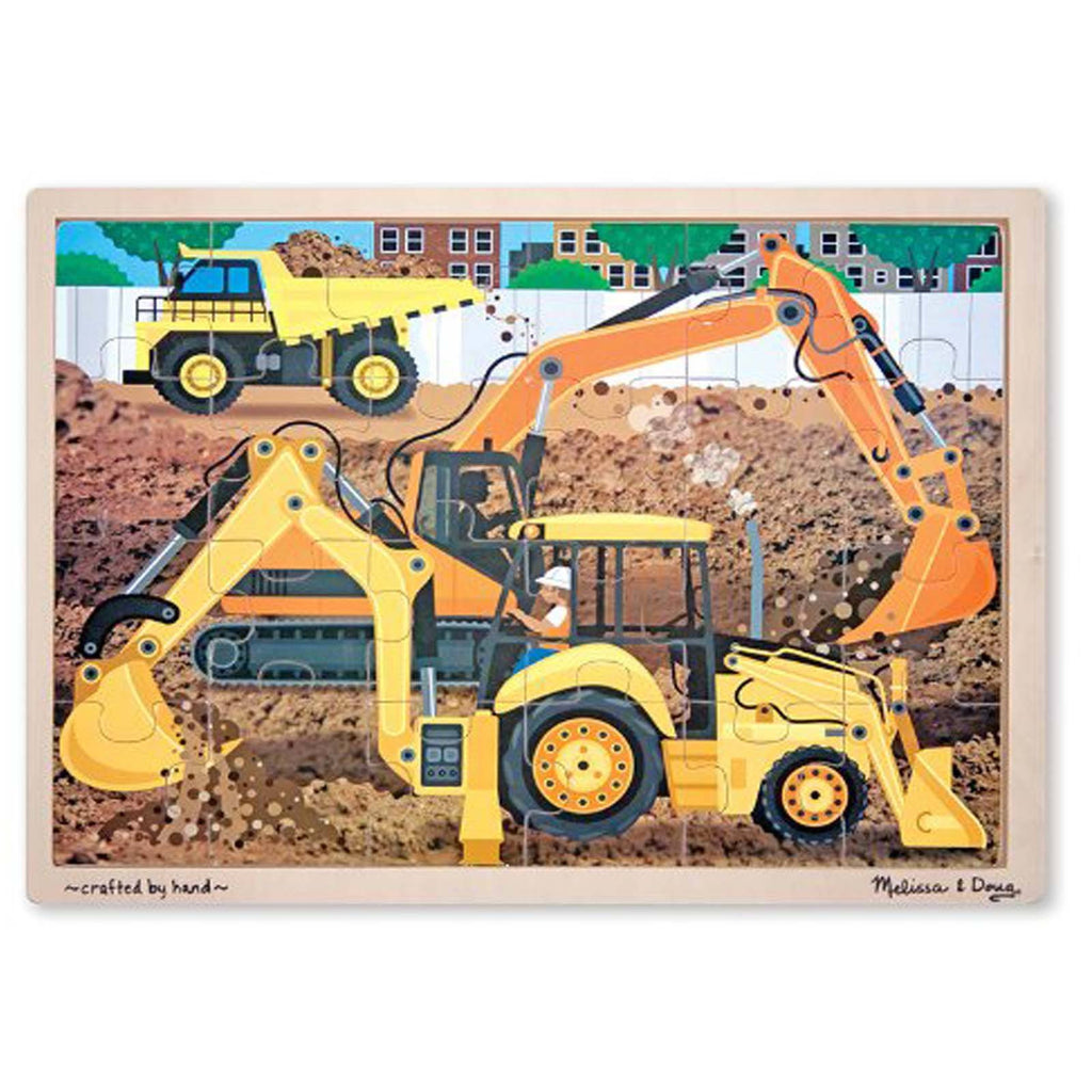 Melissa And Doug Diggers At Work 24 Piece Wooden Jigsaw Puzzle