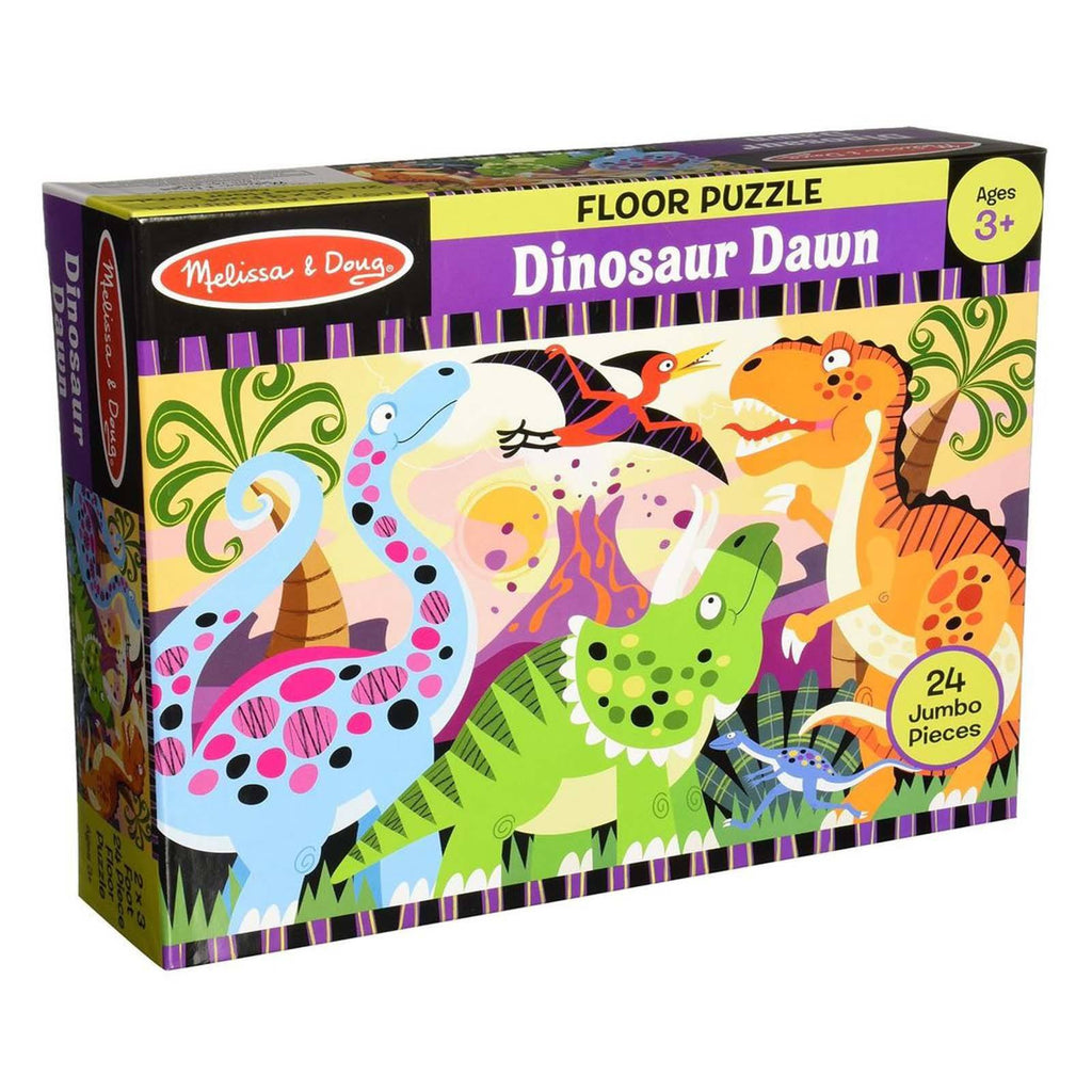 Puzzles - Melissa And Doug Dinosaur Dawn 24 Piece Floor Puzzle