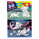 Puzzles - Melissa And Doug Easy To See Safari And Ocean 3D Marker Puzzles