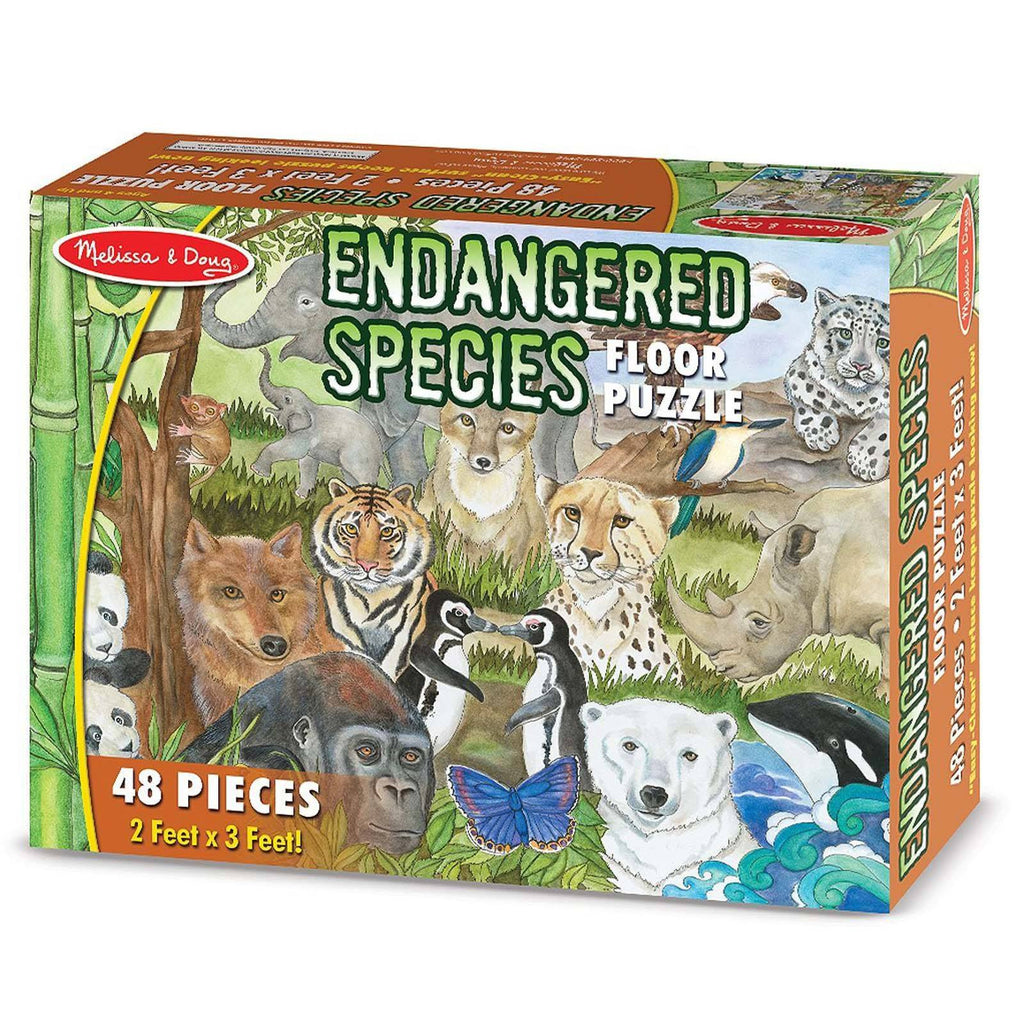 Melissa And Doug Endangered Species 48 Piece Floor Puzzle