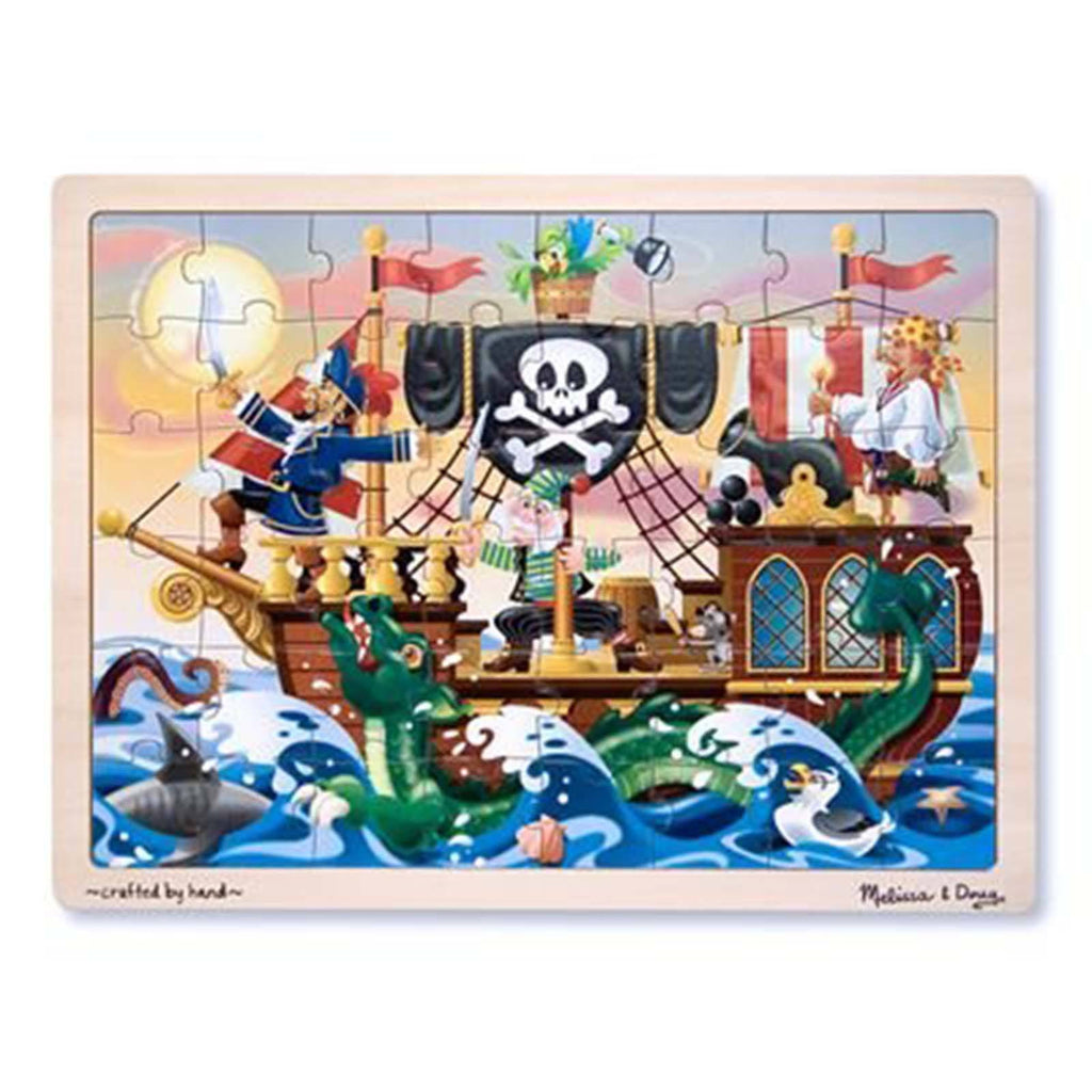 Melissa And Doug Fresh Start Pirate Adventure 48 Piece Wooden Jigsaw Puzzle