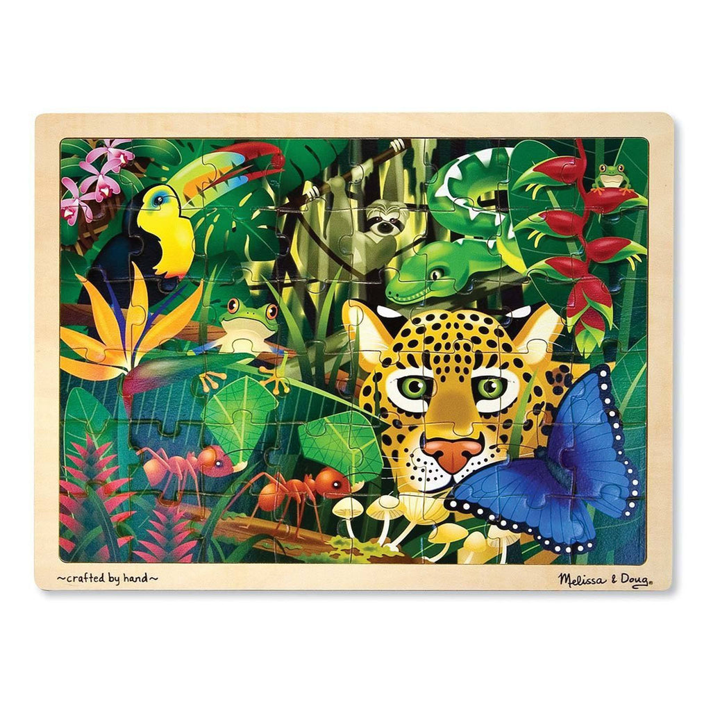 Melissa And Doug Fresh Start Rain Forest 48 Piece Wooden Jigsaw Puzzle