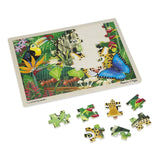 Puzzles - Melissa And Doug Fresh Start Rain Forest 48 Piece Wooden Jigsaw Puzzle