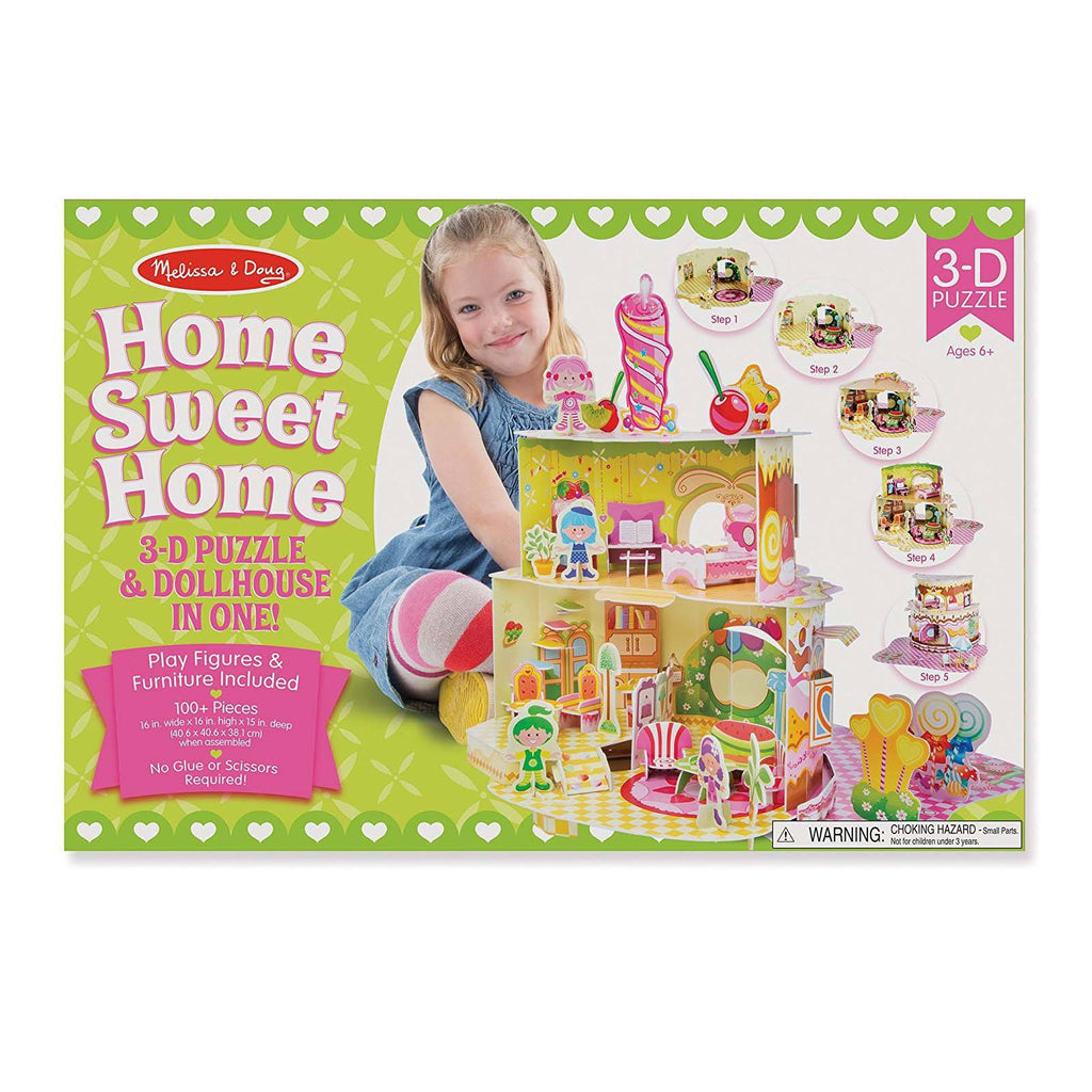 Melissa And Doug Home Sweet Home 3D Puzzle