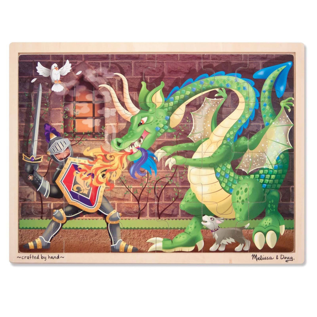 Melissa And Doug Knight Vs Dragon 48 Piece Wooden Jigsaw Puzzle