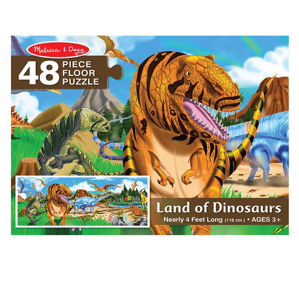 Melissa And Doug Land Of Dinosaurs 48 Piece Floor Puzzle