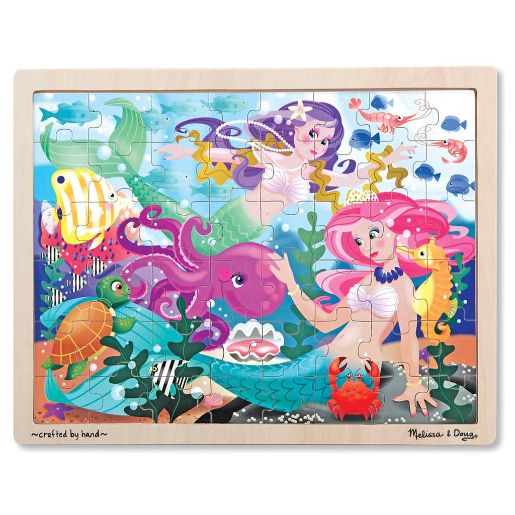 Puzzles - Melissa And Doug Mermaid Fantasea 48 Piece Wooden Jigsaw Puzzle