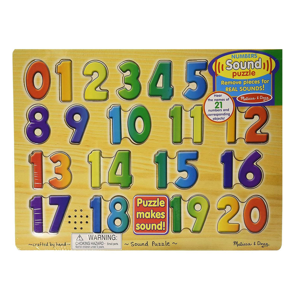Puzzles - Melissa And Doug Numbers Sound Puzzle