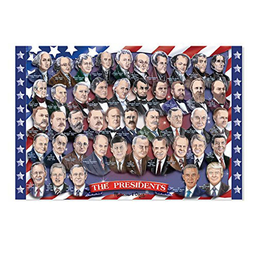 Melissa And Doug Presidents Of The United States 100 Piece Floor Puzzle