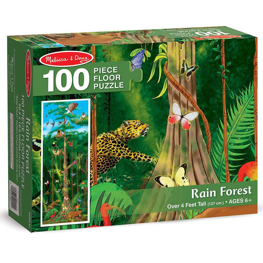 Melissa And Doug Rain Forest 100 Piece Floor Puzzle