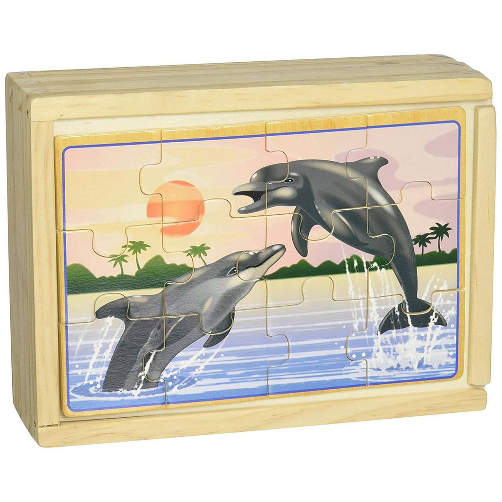 Melissa And Doug Sea Life 4 Twelve Piece Wooden Jigsaw Puzzles