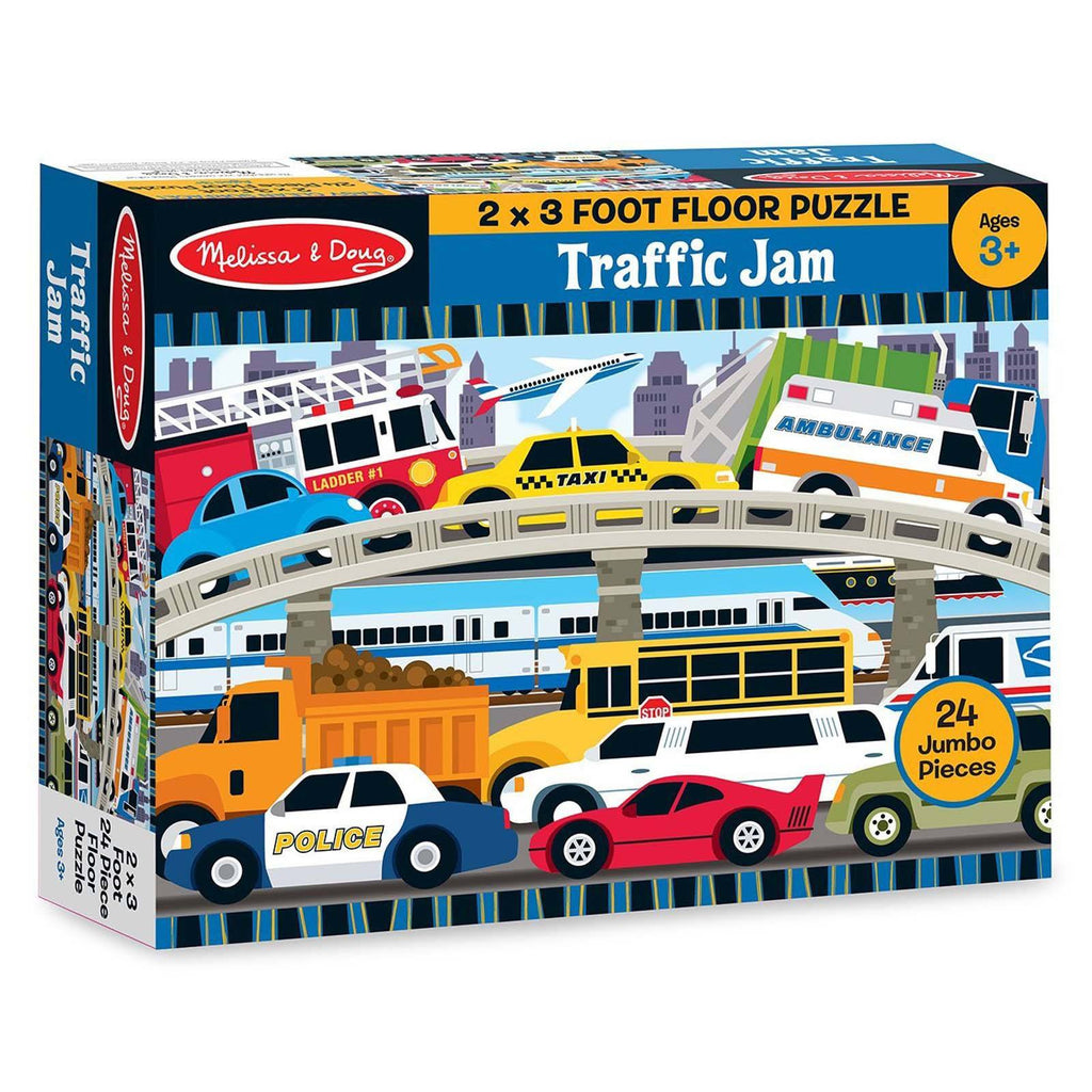 Melissa And Doug Traffic Jam 24 Piece Floor Puzzle