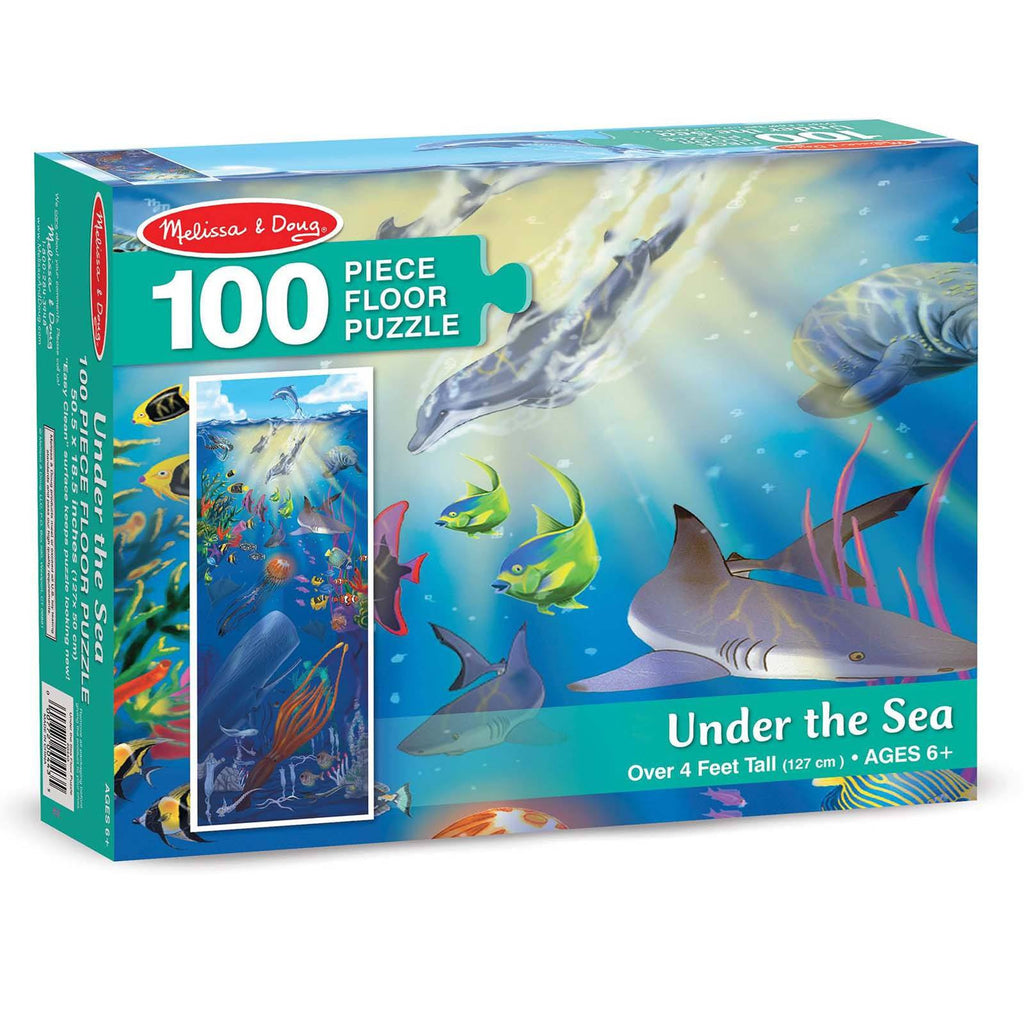 Melissa And Doug Under The Sea 100 Piece Floor Puzzle