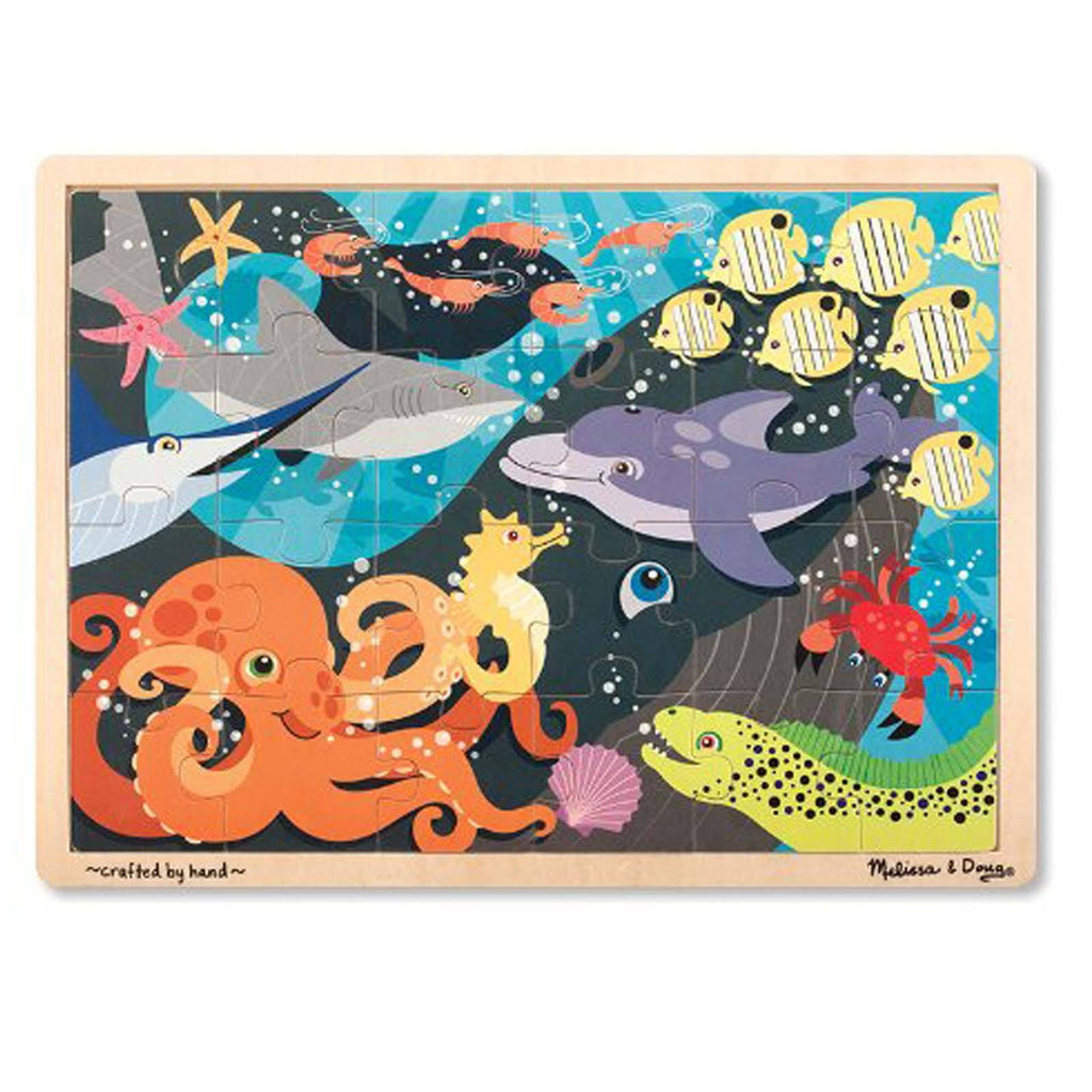 Melissa And Doug Under The Sea 24 Piece Wooden Jigsaw Puzzle