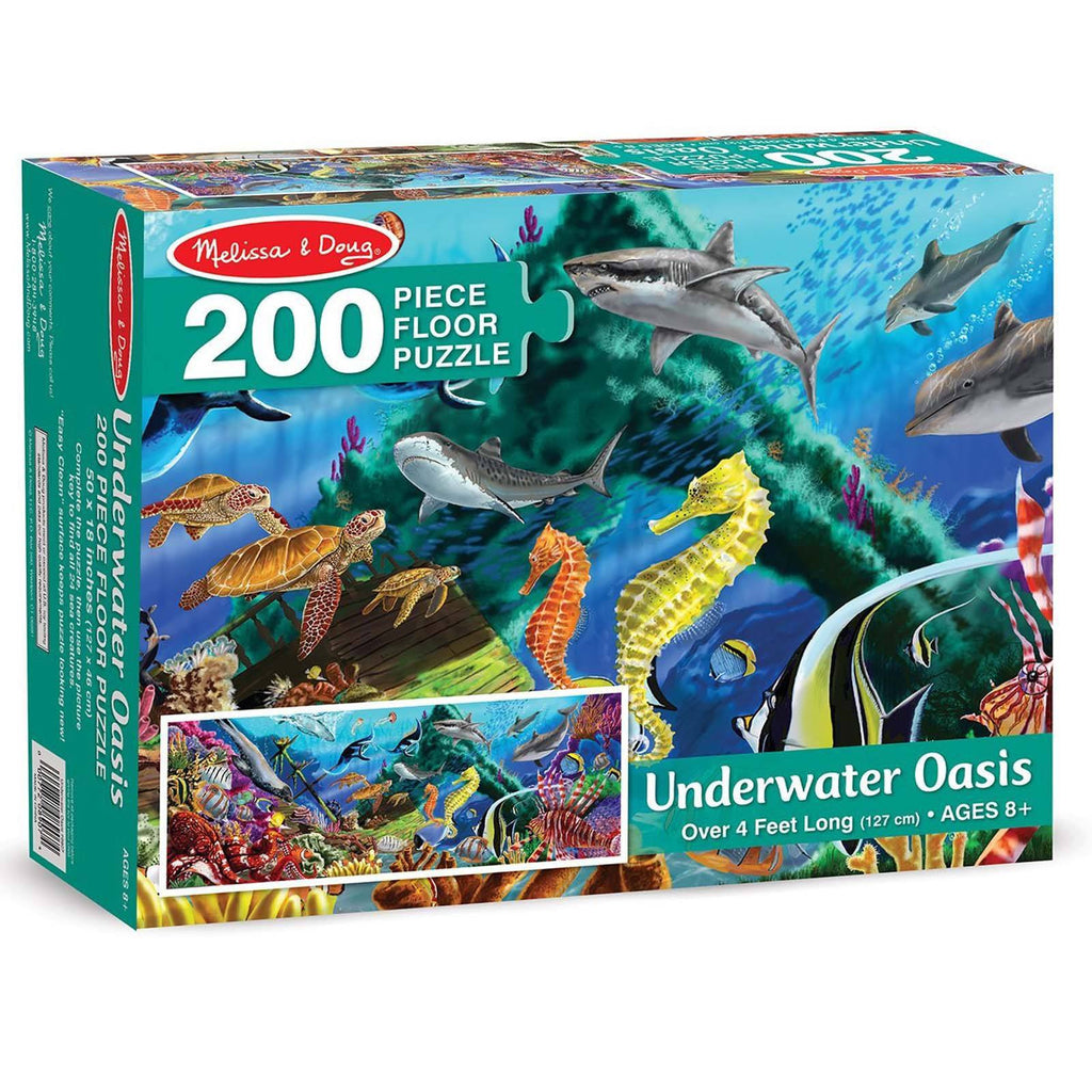 Melissa And Doug Underwater Oasis 200 Piece Floor Puzzle