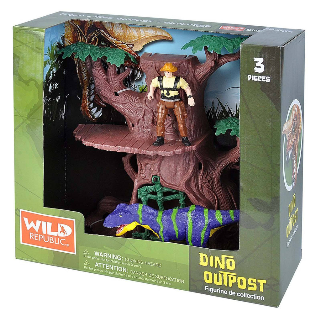 Adventure Tree Dino Outpost Figures Playset