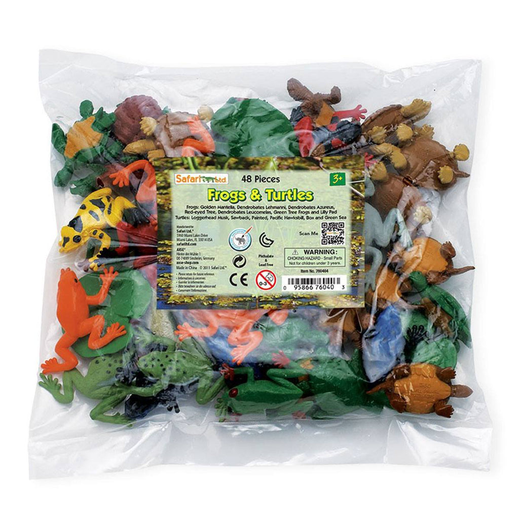 Frogs And Turtles Bulk Bag Mini Figures Safari Ltd - Radar Toys