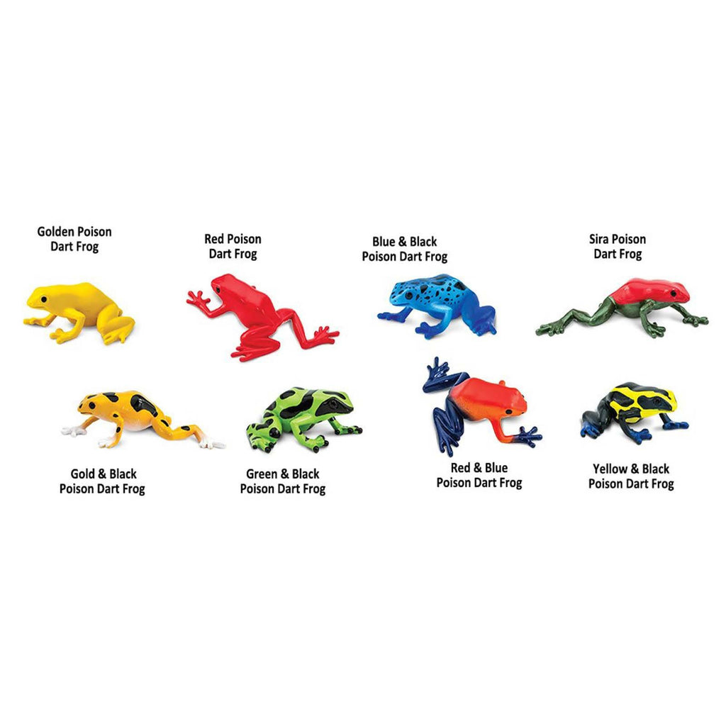 Poison Dart Frogs Toob Mini Figures Safari Ltd