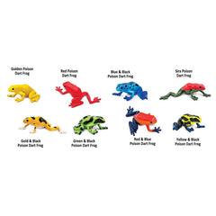 Reptile Figures - Poison Dart Frogs Toob Mini Figures Safari Ltd