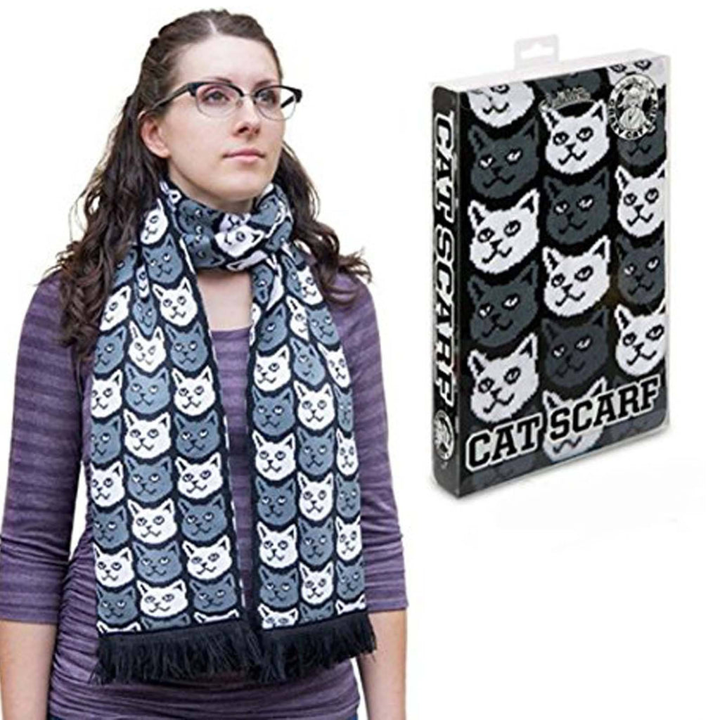 Crazy Cat Lady Soft-Knit Acrylic Scarf