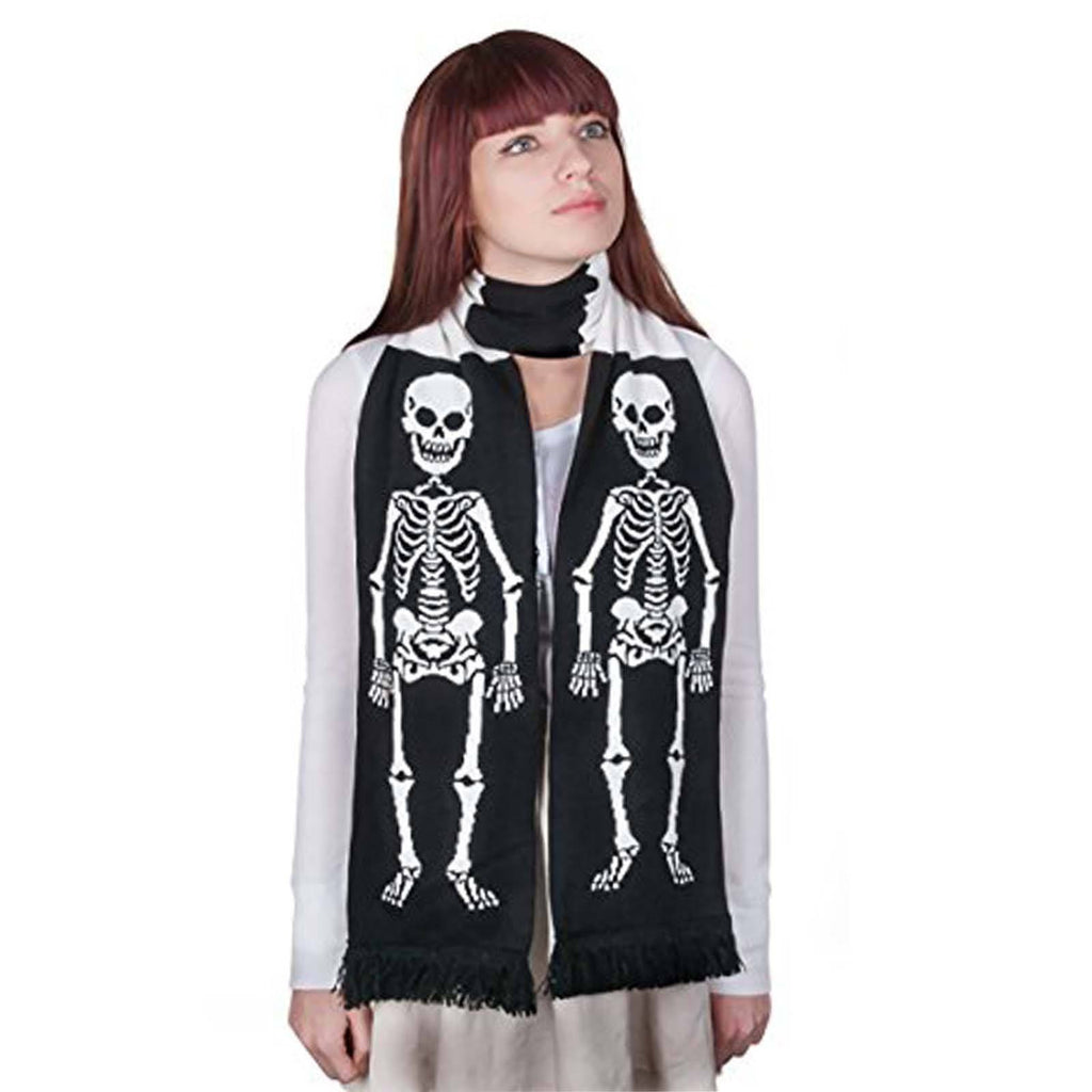 Skeleton Soft-Knit Acrylic Scarf