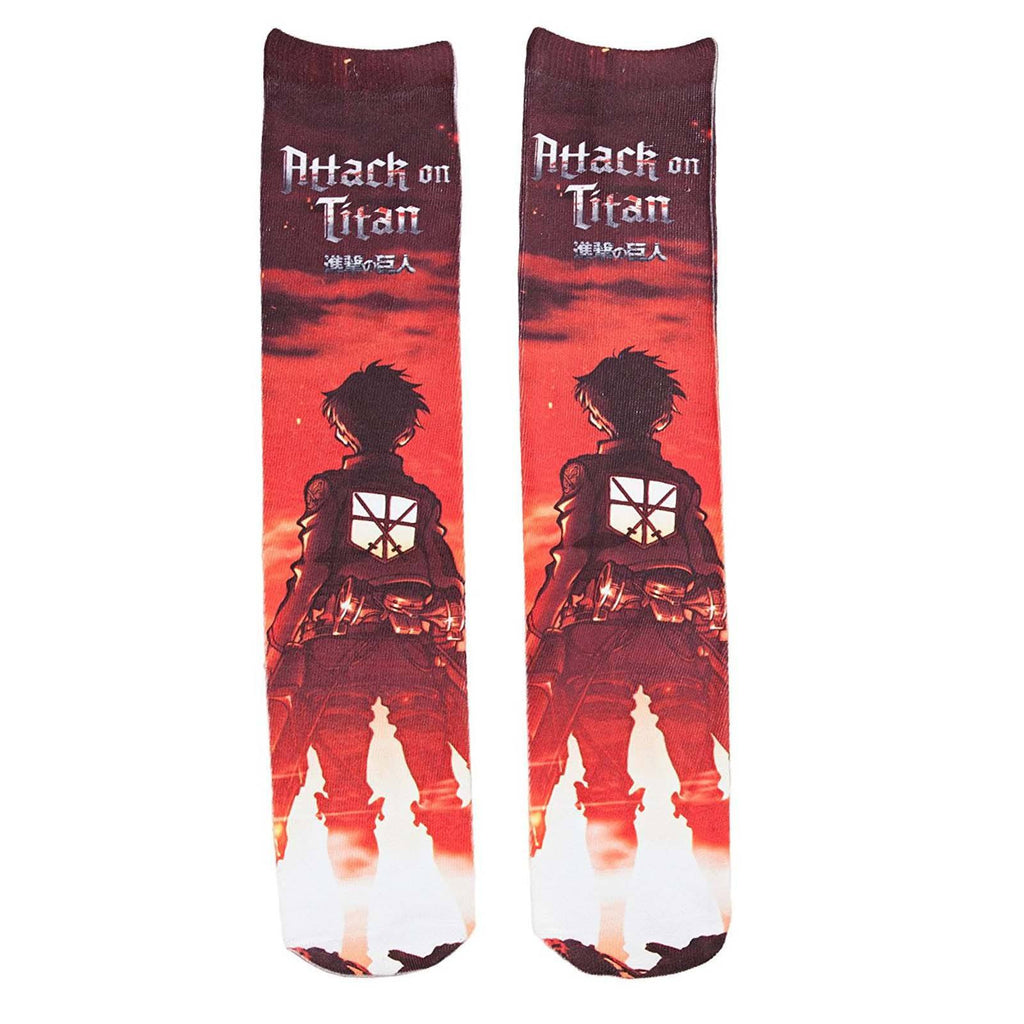 Attack On Titan Eren Photoreal 1 Pair Of Long Socks