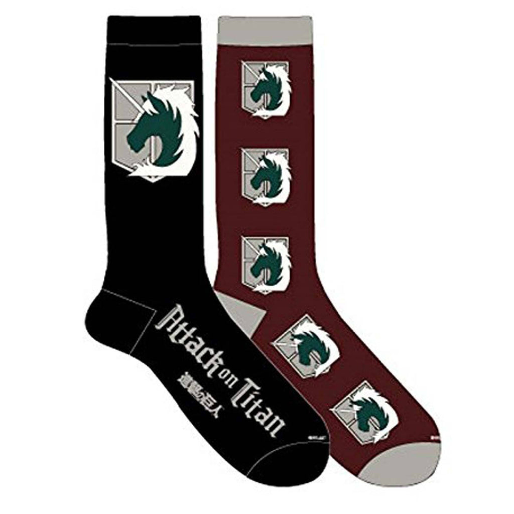 Attack On Titan Military Police 2 Pairs Of Crew Socks