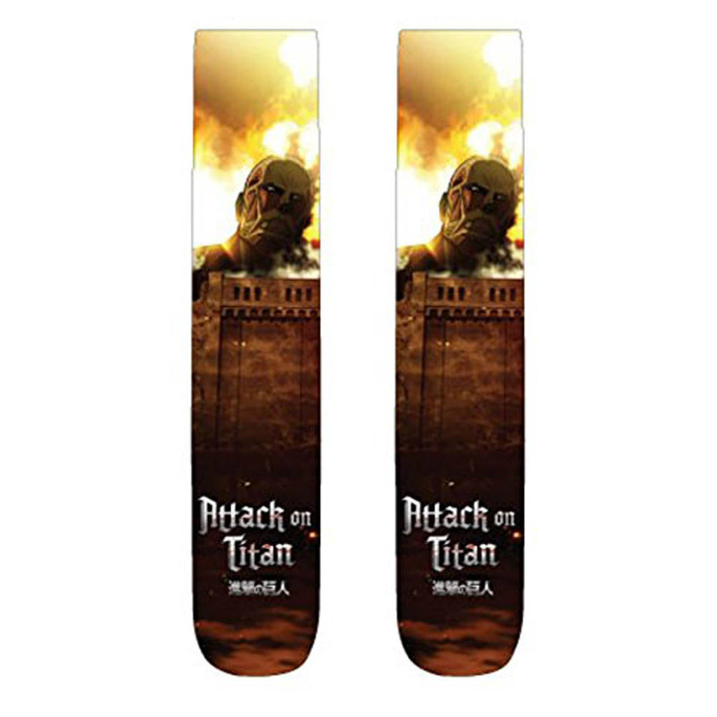 Attack On Titan Photoreal Titan 1 Pair Of Socks - Radar Toys