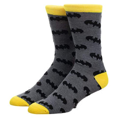 Socks - Bioworld DC Batman Bat Signal Single Pair Men's Crew Socks